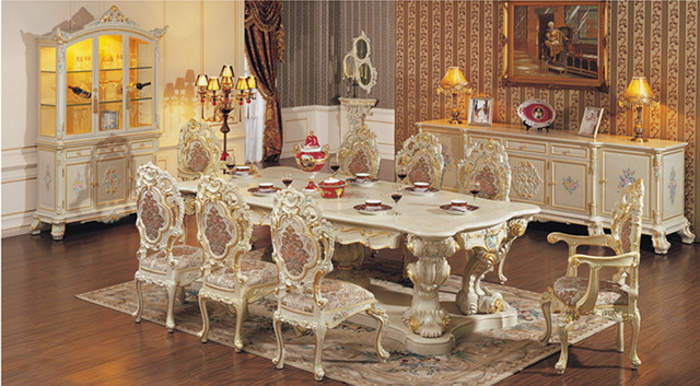 Bàn ăn 8 ghế tân cổ điển thích hợp với không gian nào