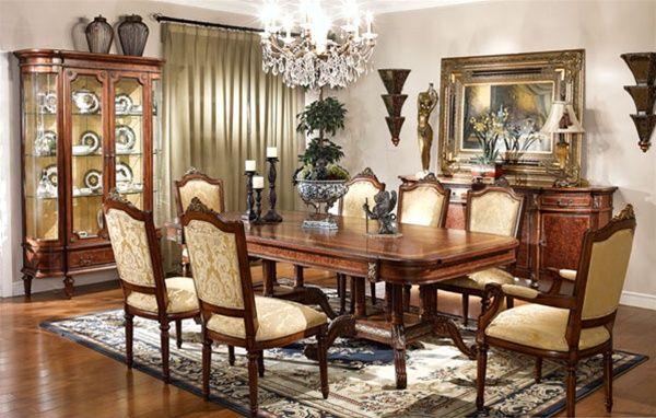 Chọn vị trí kê bàn ăn 8 ghế tân cổ điển