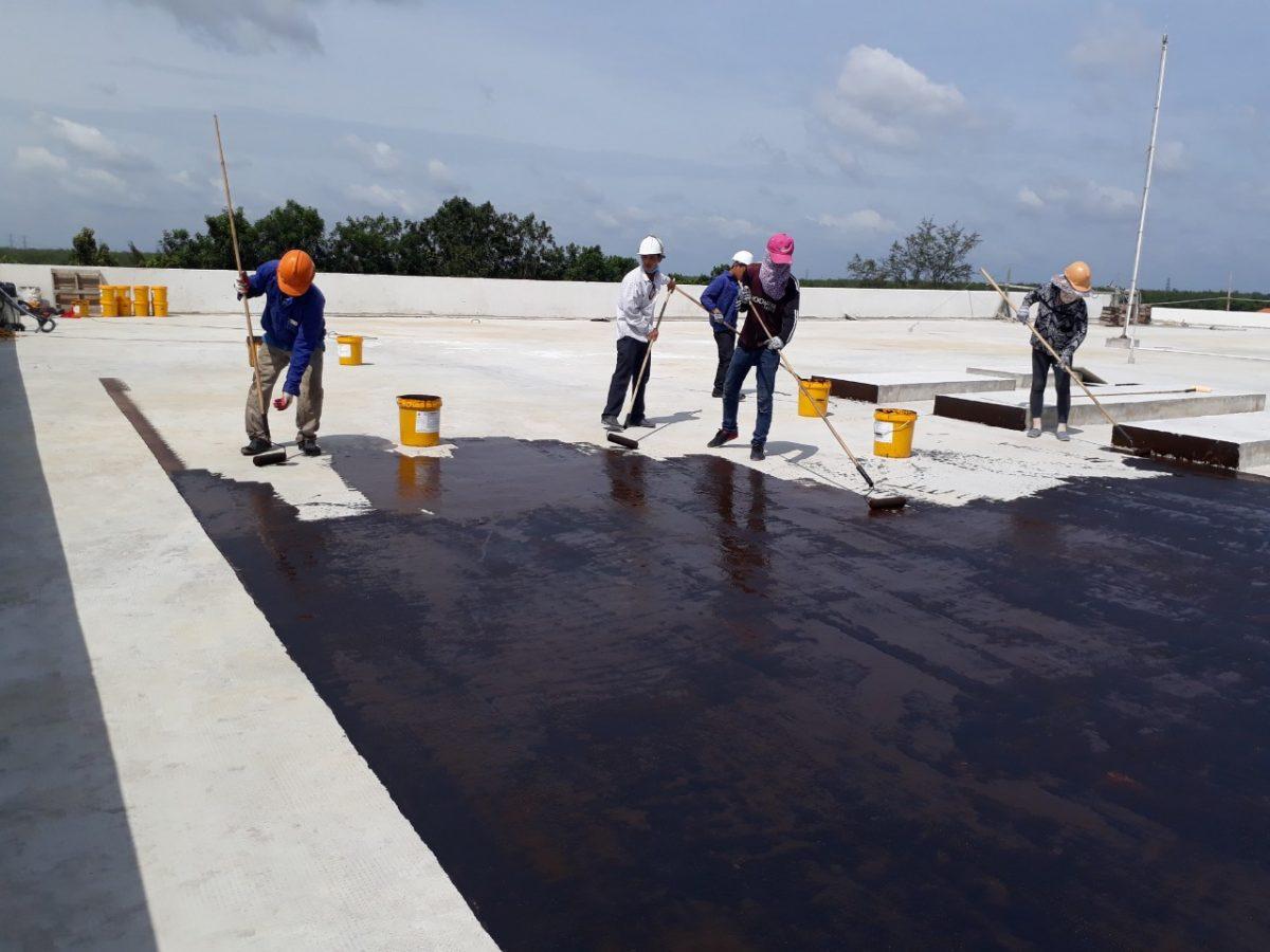 Các công đoạn chống thấm cho sàn mái