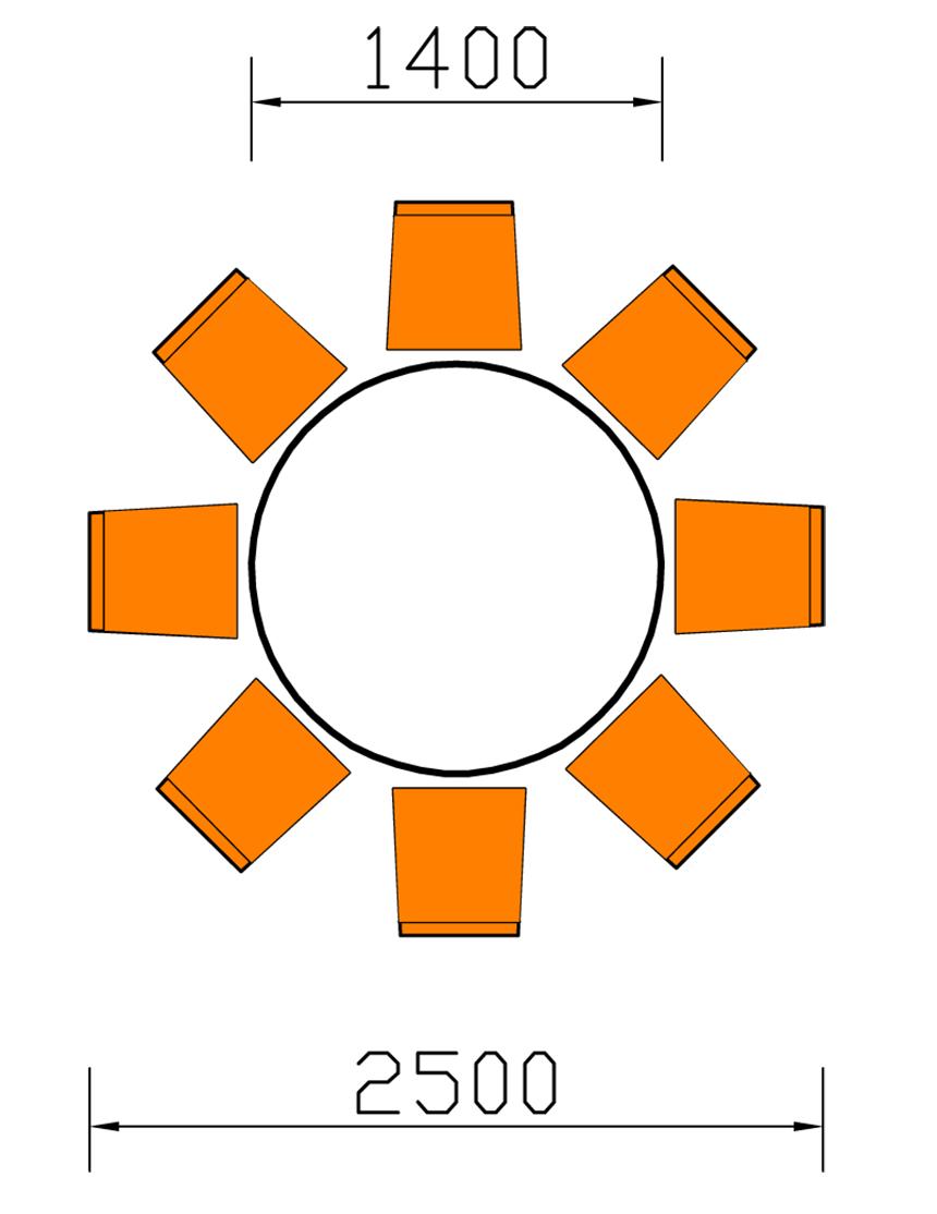 Kích thước chuẩn của bàn ăn 8 ghế tân cổ điển