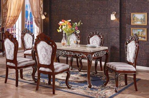 Bộ bàn ăn gỗ sồi Oak cao cấp